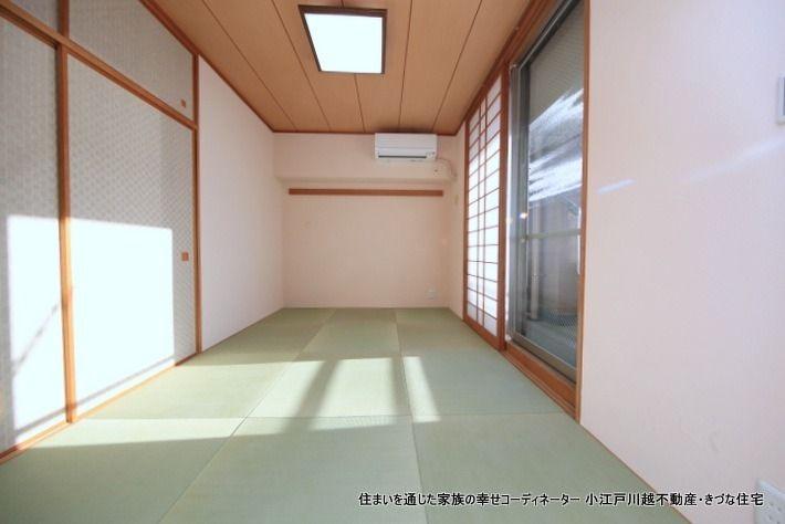 室内で一番くつろぐ場所だから 身体によい、呼吸する珪藻土と、 熊本産の良質な琉球畳を使いました。