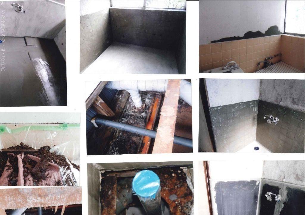 川越の昭和30年代のアパートの川越真心1番不動産を目指すきづな住宅の浴室改修工事事例