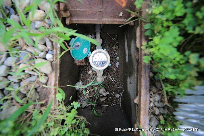 水道メーター グルグル すごい漏水