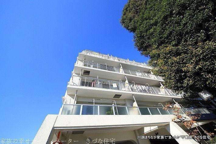 朝日プラザ上福岡の外観写真です。 埼玉県ふじみ野市上福岡5丁目の売買中古不動産の写真です。